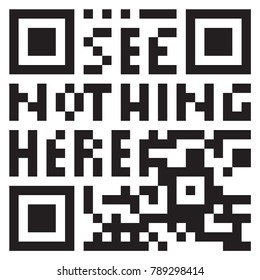 see nothing here - dummy, undecodable qr code