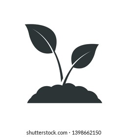 Seedling icon. Plant symbol. Sprout sign. Vector icon.