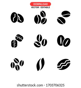 seeds coffee icon or logo isolated sign symbol vector illustration - Collection of high quality black style vector icons