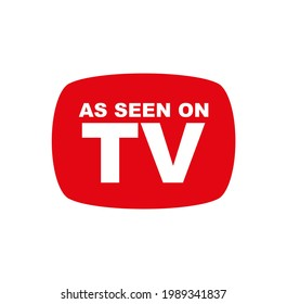 as seen on tv icon on white background