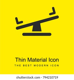 Seesaw bright yellow material minimal icon or logo design
