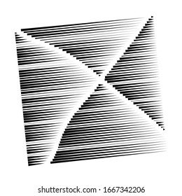segmented, dashed lines, stripes abstract geometric pattern design element. irregular straight parallel strips, streaks. chunks and pieces of lines. abstract arrangement