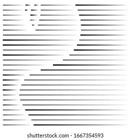 segmentierte, gestrichelte Linien, Streifen abstraktes geometrisches Muster Design-Element. unregelmäßige, gerade parallele Streifen. Stücke und Stücke von Linien. abstrakte Regelung