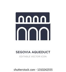 segovia aqueduct icon on white background. Simple element illustration from Monuments concept. segovia aqueduct icon symbol design.