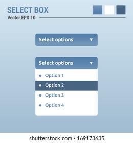 Select box - website elements - web design UI