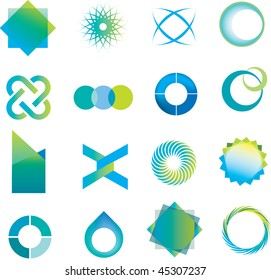 selection of abstract icons in a modern line style