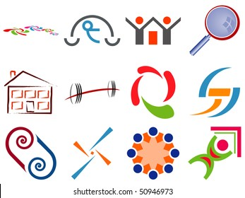 Selection of Various Design Icons Set