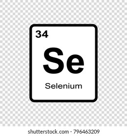 Selenium chemical element. Sign with atomic number. Chemical element of periodic table
