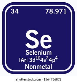 Selenium Periodic Table of the Elements Vector illustration eps 10