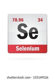 Selenium Symbol Illustration Icon On White Background