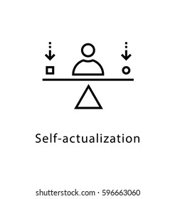 Self Actualization Vector Line Icon