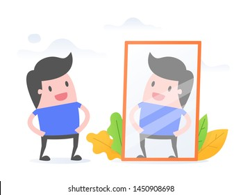 Self Awareness. Business Concept Vector Illustration.