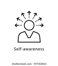 Self Awareness Vector line Icon