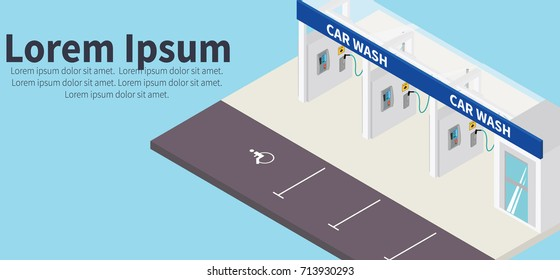 Self service car wash images stock photos vectors shutterstock self car wash isometric vector model self serve car wash vector concept solutioingenieria Gallery
