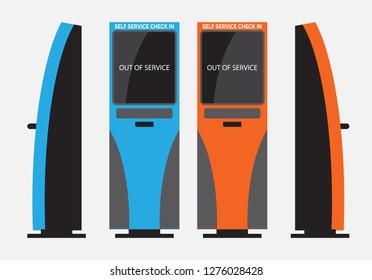 Self Check machine Vector  and illustration