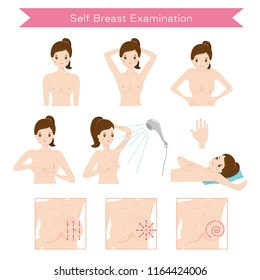 Self Examination.Breast Cancer Awareness.