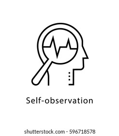 Self Observation Vector Line Icon