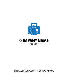 Self storage logo. Can be used for mini warehouse companies.