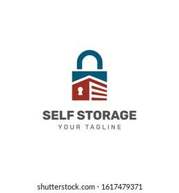 Self storage logo vector. storage garage Logotype idea.