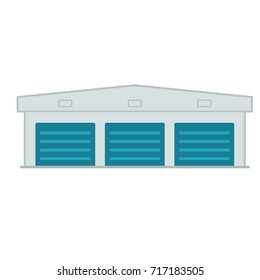 self storage unit icon. Vector illustration isolated on white background