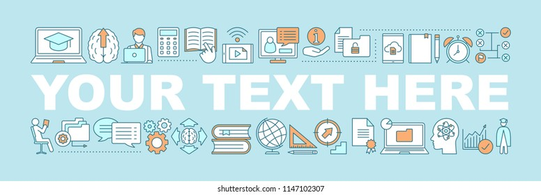 Self-education word concepts banner. Business development. Skill improvement. Goal achieving. Personal growth. Isolated lettering typography idea with linear icons. Vector outline illustration