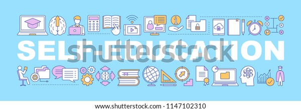 Selfeducation Word Concepts Banner Business Development Stock Vector Royalty Free 1147102310