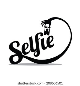 Selfie Design Element EPS 10 vector