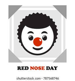 A selfie photo with red nose supporting Red Nose Day.