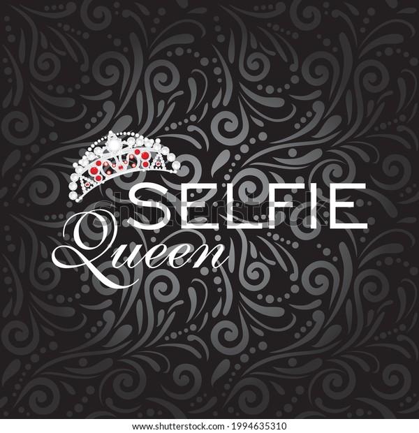 selfie-queen-vintage-design-vector-600w-