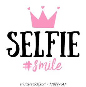 Selfie smile / T-shirt graphics and print design