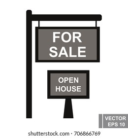 Sell. House. Signboard. New housing. The realtor. For your design.