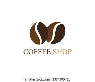 selling coffee beans logo and symbol