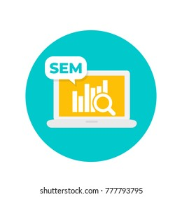 SEM, search engine marketing icon