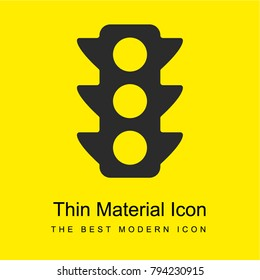 Semaphore bright yellow material minimal icon or logo design
