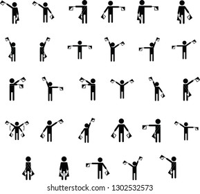 Semaphore icons,high quality for your business