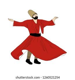 Semazen, dervish, sufi, sufism, sufi dance, sufi whirling, dervis, ramadan, ramadan kareem, ramazan, islamic