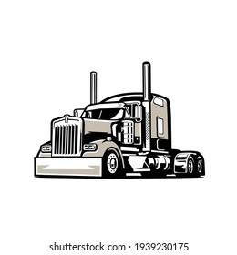 Semi Truck 18 Wheeler Silhouette Vector