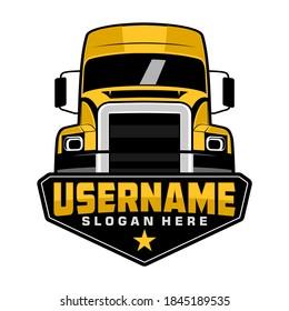 semi truck logo design vector