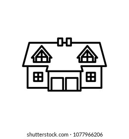 Semi-detached house icon