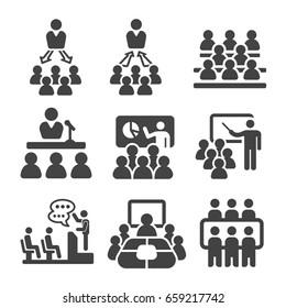 seminar,teaching,meeting icon set