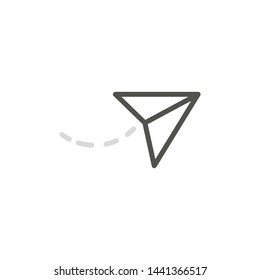 Send Icon Isolated On White Background. Send Message Symbol Modern Simple Vector Icon For Website Or Mobile App