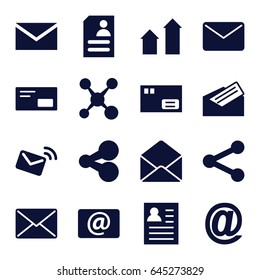 Send icons set. set of 16 send filled icons such as arrow up, mail, resume, envelope, email, letter, envelop, share, parcel