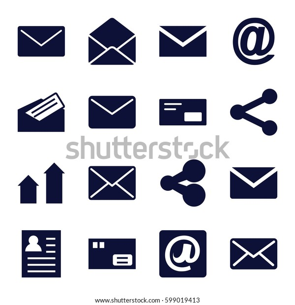 send icons set. Set of 16 send filled icons such as arrow up, mail, envelope, at email, letter, envelop, share, parcel, resume
