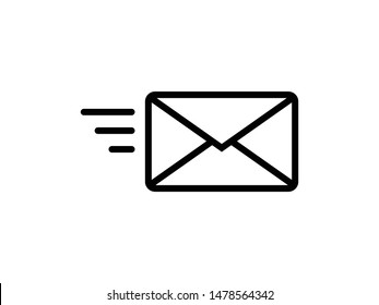 Send letter, Envelope, Message email, Vector icon