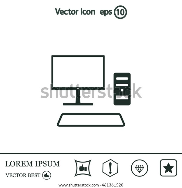 Send a letter icon, mobile phone and mail. Vector illustration