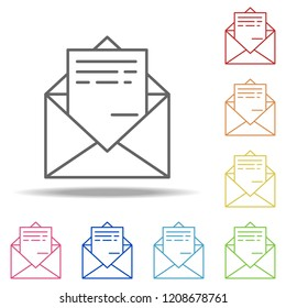 Send mail icon. Elements of Global Logistics in multi color style icons. Simple icon for websites, web design, mobile app, info graphics