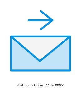 Send Message Line Icon