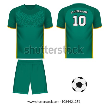 save off 59d0d 58bf9 Senegal National Soccer Team Shirt Generic Stock Vector ...
