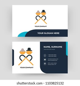 senior citizen, business card design template, Visiting for your company, Modern Creative and Clean identity Card Vector