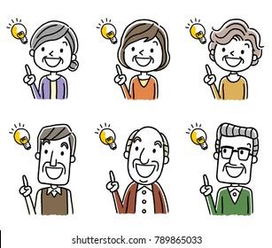 Senior men and senior women: ideas